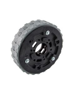 "4"" Traction Wheel (in 1"" wide configuration) with two 4"" Traction Tires (sold separately)"